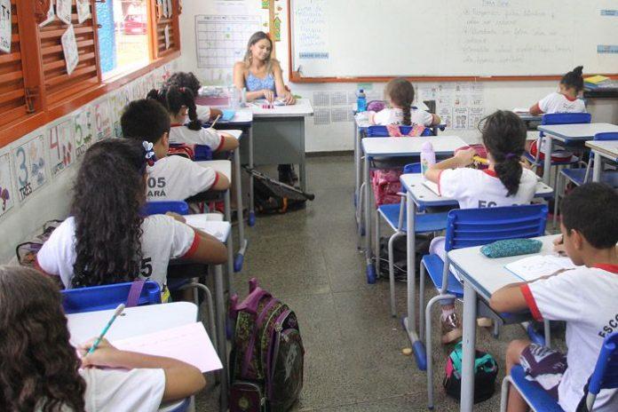 Sala de aula no distrito federal