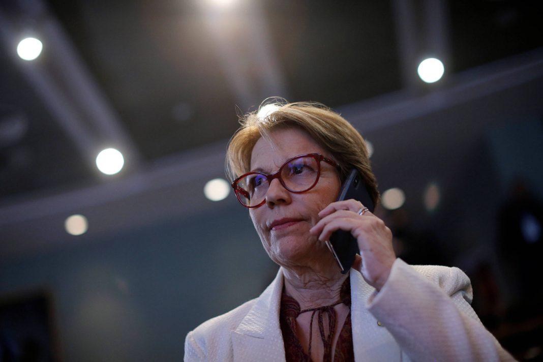 A ministra da Agricultura, Tereza Cristina, que embarcou em viagem para a Ásia - Adriano Machado - 3.abr.19/Reuters